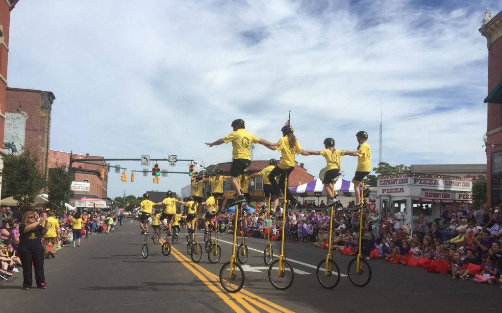 Unicycle Drill Team - parade