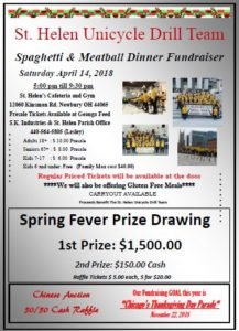 2018 Spaghetti and Meatball Dinner Fundraiser Flyer