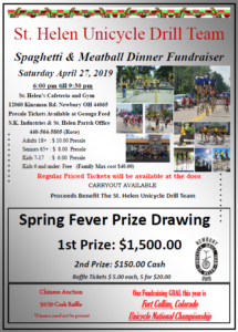 2019 Spaghetti Dinner Flyer
