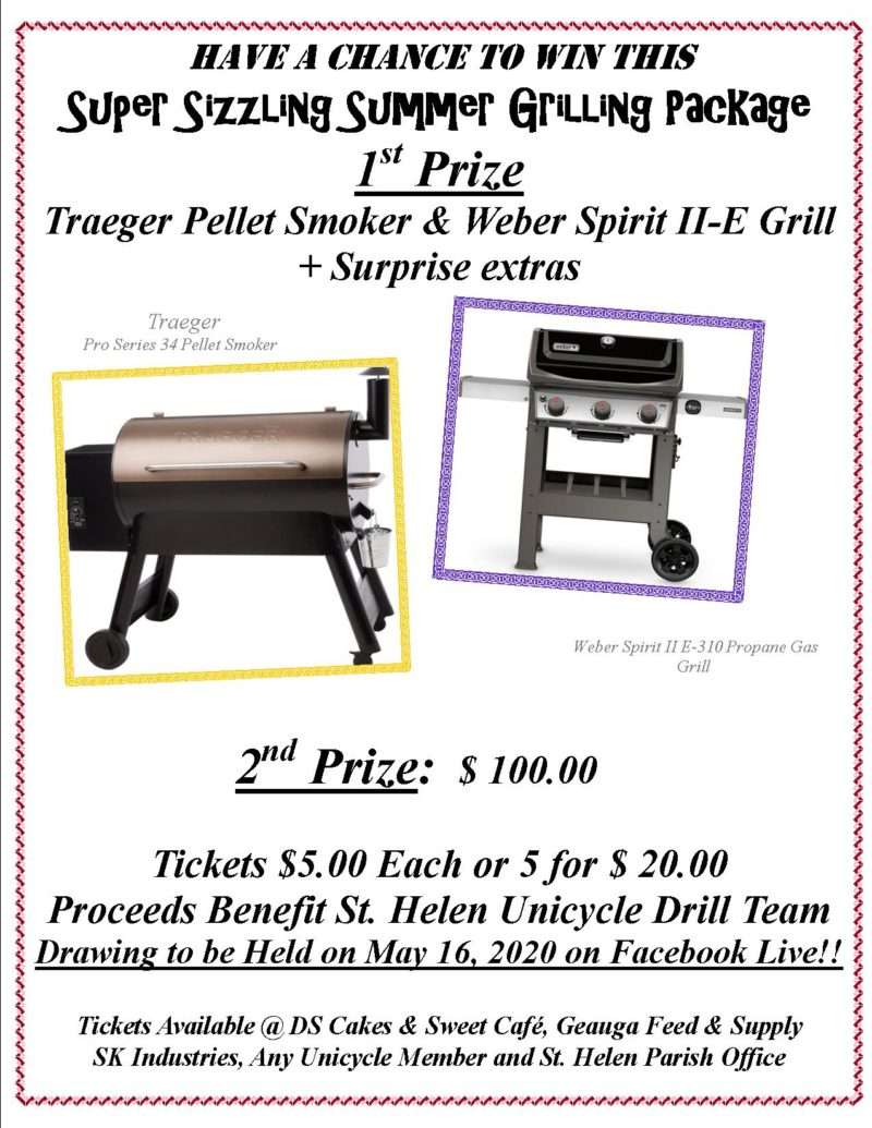 Sizzling Summer Grilling Package Raffle 2020 ad
